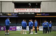 21 September 2021; Finn Harps players inspect the pitch before the extra.ie FAI Cup Quarter-Final Replay match between Dundalk and Finn Harps at Oriel Park in Dundalk, Louth. Photo by Ben McShane/Sportsfile