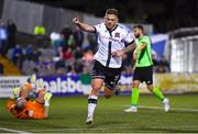 21 September 2021; Sean Murray of Dundalk celebrates after scoring his side's first goal during the extra.ie FAI Cup Quarter-Final Replay match between Dundalk and Finn Harps at Oriel Park in Dundalk, Louth. Photo by Ben McShane/Sportsfile