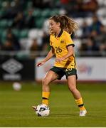 21 September 2021; Clare Wheeler of Australia during the women's international friendly match between Republic of Ireland and Australia at Tallaght Stadium in Dublin. Photo by Seb Daly/Sportsfile