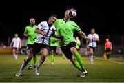 21 September 2021; Sean Murray of Dundalk in action against Shane McEleney of Finn Harps during the extra.ie FAI Cup Quarter-Final Replay match between Dundalk and Finn Harps at Oriel Park in Dundalk, Louth. Photo by Ben McShane/Sportsfile