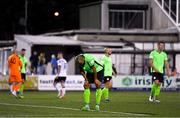 21 September 2021; Ethan Boyle of Finn Harps reacts after his side concede a penalty during the extra.ie FAI Cup Quarter-Final Replay match between Dundalk and Finn Harps at Oriel Park in Dundalk, Louth. Photo by Ben McShane/Sportsfile