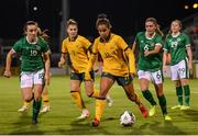 21 September 2021; Mary Fowler of Australia during the women's international friendly match between Republic of Ireland and Australia at Tallaght Stadium in Dublin. Photo by Stephen McCarthy/Sportsfile