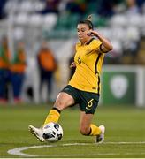 21 September 2021; Chloe Logarzo of Australia during the women's international friendly match between Republic of Ireland and Australia at Tallaght Stadium in Dublin. Photo by Seb Daly/Sportsfile