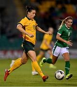21 September 2021; Emily Gielnik of Australia during the women's international friendly match between Republic of Ireland and Australia at Tallaght Stadium in Dublin. Photo by Seb Daly/Sportsfile