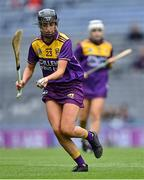 12 September 2021; Megan Cullen of Wexford during the All-Ireland Premier Junior Camogie Championship Final match between Armagh and Wexford at Croke Park in Dublin. Photo by Piaras Ó Mídheach/Sportsfile