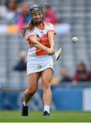 12 September 2021; Ciara Donnelly of Armagh during the All-Ireland Premier Junior Camogie Championship Final match between Armagh and Wexford at Croke Park in Dublin. Photo by Piaras Ó Mídheach/Sportsfile