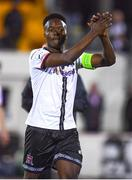 21 September 2021; Ebuka Kwelele of Dundalk after the extra.ie FAI Cup Quarter-Final Replay match between Dundalk and Finn Harps at Oriel Park in Dundalk, Louth. Photo by Ben McShane/Sportsfile