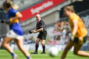 5 September 2021; Referee Barry Redmond during the TG4 All-Ireland Ladies Junior Football Championship Final match between Antrim and Wicklow at Croke Park in Dublin. Photo by Piaras Ó Mídheach/Sportsfile
