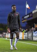 24 September 2021; Ebuka Kwelele of Dundalk before the SSE Airtricity League Premier Division match between Dundalk and Sligo Rovers at Oriel Park in Dundalk, Louth. Photo by Ben McShane/Sportsfile