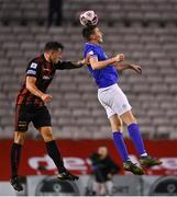 24 September 2021; Sean Boyd of Finn Harps in action against Rob Cornwall of Bohemians during the SSE Airtricity League Premier Division match between Bohemians and Finn Harps at Dalymount Park in Dublin. Photo by Piaras Ó Mídheach/Sportsfile