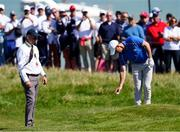 24 September 2021; Rory McIlroy of Team Europe takes a penalty drop during his Friday afternoon fourballs match with Shane Lowry against Tony Finau and Harris English of Team USA at the Ryder Cup 2021 Matches at Whistling Straits in Kohler, Wisconsin, USA. Photo by Tom Russo/Sportsfile