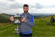 25 September 2021; Colin Ryan of Limerick with the Corn Setanta trophy after winning the M. Donnelly GAA All-Ireland Poc Fada finals at Annaverna Mountain in the Cooley Peninsula, Ravensdale, Louth. Photo by Ben McShane/Sportsfile