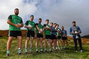 25 September 2021; All participants with winner Colin Ryan of Limerick and the Corn Setanta trophy after the M. Donnelly GAA All-Ireland Poc Fada finals at Annaverna Mountain in the Cooley Peninsula, Ravensdale, Louth. Photo by Ben McShane/Sportsfile