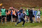 25 September 2021; Colin Ryan of Limerick watches his shot during the M. Donnelly GAA All-Ireland Poc Fada finals at Annaverna Mountain in the Cooley Peninsula, Ravensdale, Louth. Photo by Ben McShane/Sportsfile