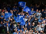 25 September 2021; Leinster supporters during the United Rugby Championship match between Leinster and Vodacom Bulls at the Aviva Stadium in Dublin. Photo by Harry Murphy/Sportsfile
