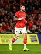 25 September 2021; RG Snyman of Munster comes on as a substitute during the United Rugby Championship match between Munster and Cell C Sharks at Thomond Park in Limerick. Photo by Seb Daly/Sportsfile