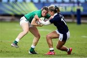 25 September 2021; Ciara Griffin of Ireland is tackled by Hannah Smith of Scotland during the Rugby World Cup 2022 Europe qualifying tournament match between Ireland and Scotland at Stadio Sergio Lanfranchi in Parma, Italy. Photo by Roberto Bregani/Sportsfile