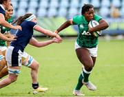 25 September 2021; Linda Djougang of Ireland during the Rugby World Cup 2022 Europe qualifying tournament match between Ireland and Scotland at Stadio Sergio Lanfranchi in Parma, Italy. Photo by Roberto Bregani/Sportsfile