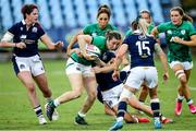 25 September 2021; Ciara Griffin of Ireland in action against Chloe Rollie of Scotland during the Rugby World Cup 2022 Europe qualifying tournament match between Ireland and Scotland at Stadio Sergio Lanfranchi in Parma, Italy. Photo by Roberto Bregani/Sportsfile