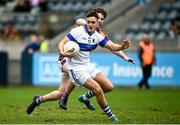 26 September 2021; Sean Lowry of St Vincents in action against Liam Flatman of Kilmacud Crokes during the Go Ahead Dublin Senior Club Football Championship Group 2 match between Kilmacud Crokes and St Vincents at Parnell Park in Dublin. Photo by David Fitzgerald/Sportsfile