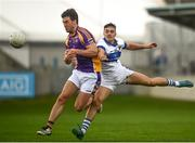 26 September 2021; Andrew McGowan of Kilmacud Crokes in action against Sean Lowry of St Vincent's during the Go Ahead Dublin Senior Club Football Championship Group 2 match between Kilmacud Crokes and St Vincents at Parnell Park in Dublin. Photo by David Fitzgerald/Sportsfile