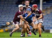 26 September 2021; Killian Gleeson of Nenagh Éire Óg in action against Borris-Ileigh players, from left, Kieran Maher, Niall Kenny and Jerry Kelly during the Tipperary Senior Hurling Championship Group 4 match between Borris-Ileigh and Nenagh Éire Óg at Semple Stadium in Thurles, Tipperary. Photo by Sam Barnes/Sportsfile