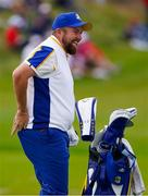 26 September 2021; Shane Lowry of Team Europe before his Sunday singles match against Patrick Cantlay of Team USA at the Ryder Cup 2021 Matches at Whistling Straits in Kohler, Wisconsin, USA. Photo by Tom Russo/Sportsfile