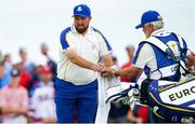 26 September 2021; Rory McIlroy of Team Europe and caddie Brian Martin during their Sunday singles match against Patrick Cantlay of Team USA at the Ryder Cup 2021 Matches at Whistling Straits in Kohler, Wisconsin, USA. Photo by Tom Russo/Sportsfile