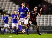 24 September 2021; Sean Boyd of Finn Harps in action against Keith Ward of Bohemians during the SSE Airtricity League Premier Division match between Bohemians and Finn Harps at Dalymount Park in Dublin. Photo by Piaras Ó Mídheach/Sportsfile