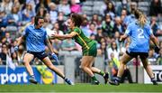 5 September 2021; Emma Duggan of Meath shoots to score her side's first goal during the TG4 All-Ireland Ladies Senior Football Championship Final match between Dublin and Meath at Croke Park in Dublin. Photo by Piaras Ó Mídheach/Sportsfile