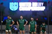 1 October 2021; Connacht players, from left, Leva Fifita, Tom Daly, Jack Aungier and Sam Arnold during the United Rugby Championship match between Connacht and Vodacom Bulls at The Sportsground in Galway. Photo by Harry Murphy/Sportsfile