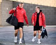 2 October 2021; Munster players Gavin Coombes, left, and Craig Casey during the United Rugby Championship match between Munster and DHL Stormers at Thomond Park in Limerick. Photo by Sam Barnes/Sportsfile