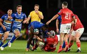 2 October 2021; Sazi Sandi of DHL Stormers is tackled by Fineen Wycherley of Munster during the United Rugby Championship match between Munster and DHL Stormers at Thomond Park in Limerick. Photo by Brendan Moran/Sportsfile