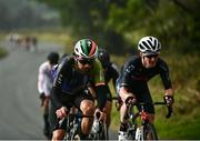3 October 2021; Ben Healy of Trinity Racing, left, and Eddie Dunbar of Team Ineos during the senior men's road race at the 2021 Cycling Ireland Road National Championships in Wicklow. Photo by David Fitzgerald/Sportsfile