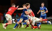 2 October 2021; Evan Roos of DHL Stormers in action against Rory Scannell and Ben Healy of Munster during the United Rugby Championship match between Munster and DHL Stormers at Thomond Park in Limerick. Photo by Brendan Moran/Sportsfile