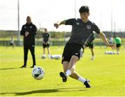 4 October 2021; Colm Whelan during a Republic of Ireland U21 training session at the FAI National Training Centre in Abbotstown in Dublin. Photo by Seb Daly/Sportsfile