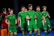 5 October 2021; Ireland players after the international friendly match between Ireland and Malaysia at Lisnagarvey Hockey Club in Hillsborough, Down. Photo by Ramsey Cardy/Sportsfile