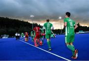 5 October 2021; Mark McNellis of Ireland before an international friendly match between Ireland and Malaysia at Lisnagarvey Hockey Club in Hillsborough, Down. Photo by Ramsey Cardy/Sportsfile