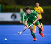 5 October 2021; Benjamin Walker of Ireland during an international friendly match between Ireland and Malaysia at Lisnagarvey Hockey Club in Hillsborough, Down. Photo by Ramsey Cardy/Sportsfile