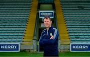 8 October 2021; Newly appointed Kerry senior football manager Jack O'Connor poses for a portrait before a Kerry GAA press conference at Austin Stack Park in Tralee, Kerry. Photo by Brendan Moran/Sportsfile