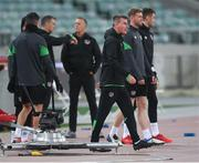 8 October 2021; Manager Stephen Kenny during a Republic of Ireland training session at the Olympic Stadium in Baku, Azerbaijan. Photo by Stephen McCarthy/Sportsfile