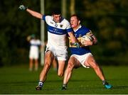 9 October 2021; Ciarán Kilkenny of Castleknock in action against Eoin Adamson of St Vincent's during the Go Ahead Dublin County Senior Club Football Championship Group 2 match between Castleknock and St Vincent's at Naul in Dublin. Photo by David Fitzgerald/Sportsfile