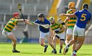 10 October 2021; Cian Walsh of St Finbarr's in action against Alan Connolly of Blackrock during the Cork County Senior Club Hurling Championship Round 3 match between Blackrock and St Finbarr's at Pairc Ui Chaoimh in Cork. Photo by Brendan Moran/Sportsfile