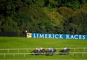 10 October 2021; A view of the field during the Irish Stallion Farms EBF Cailin Alainn Mares Hurdle at Limerick Racecourse in Patrickswell, Limerick. Photo by Seb Daly/Sportsfile