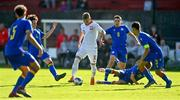 10 October 2021; Oliwier Wojciechowski of Poland in action against Andorra during the UEFA U17 Championship Qualifying Round Group 5 match between Poland and Andorra at The Mardyke in Cork. Photo by Eóin Noonan/Sportsfile