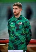 9 October 2021; Nathan Collins of Republic of Ireland before the FIFA World Cup 2022 qualifying group A match between Azerbaijan and Republic of Ireland at the Olympic Stadium in Baku, Azerbaijan. Photo by Stephen McCarthy/Sportsfile