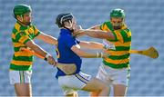 10 October 2021; John Cashman, right, of Blackrock, gathers possession ahead of team-mate Jamie Ryan and Jack Cahalane of St Finbarr's during the Cork County Senior Club Hurling Championship Round 3 match between Blackrock and St Finbarr's at Pairc Ui Chaoimh in Cork. Photo by Brendan Moran/Sportsfile