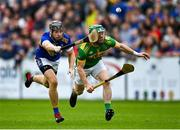 10 October 2021; Kevin Molloy of Dunloy in action against Stephen Shannon of O'Donovan Rossa during the Antrim County Senior Club Hurling Championship Final match between Dunloy and O'Donovan Rossa at Corrigan Park in Belfast. Photo by Ramsey Cardy/Sportsfile