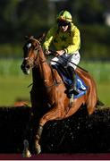 10 October 2021; Big Debates, with Jack Foley up, jumps the last on their way to winning the Follow Limerick Racecourse On Instagram Handicap Steeplechase at Limerick Racecourse in Patrickswell, Limerick. Photo by Seb Daly/Sportsfile
