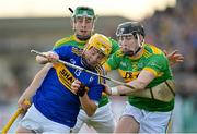 10 October 2021; Tiarnán Murphy of O'Donovan Rossa in action against Aaron Crawford of Dunloy during the Antrim County Senior Club Hurling Championship Final match between Dunloy and O'Donovan Rossa at Corrigan Park in Belfast. Photo by Ramsey Cardy/Sportsfile